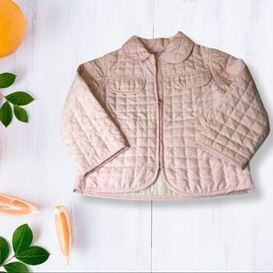 Baby Graziella Girl's Pink Quilted Jacket …